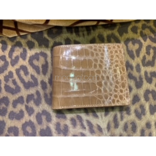 Crocodile leather Wallet (Brown)