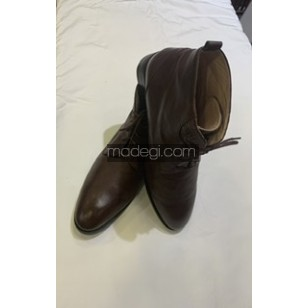 Crocodile-skin boots and leather shoes (custom-made)